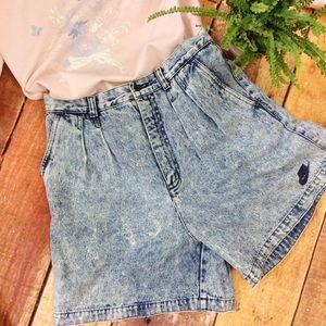 Vintage Nike Acid Washed High Waisted Shorts